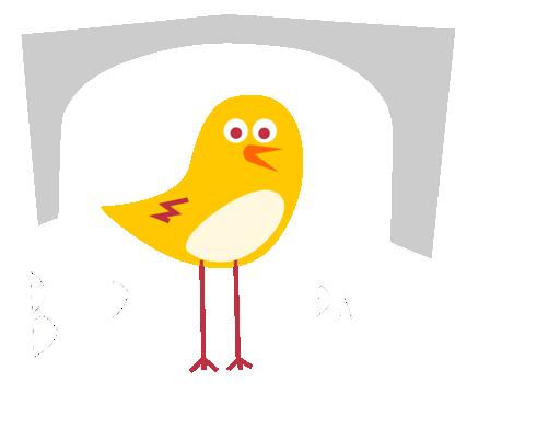 Logo Burgspatzen weiße Schrift comp